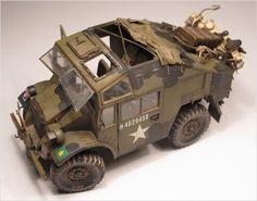 Quad Gun Tractor & BMW R75 1/35 Scale Model
