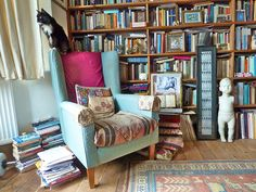 bb on my reading chair by alev.adil, via Flickr