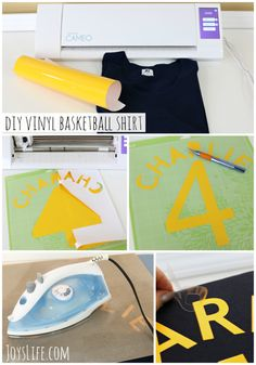 How to Create DIY Basketball Team Shirts using Heat Transfer Vinyl (Tshirt vinyl) the Silhouette Cameo Vinyl Tshirt, Basketball Shirts, Diy Recipe, Iron On Vinyl, Team Shirts, How To Make Diy, Big Game, Vinyl Projects, Room Organization