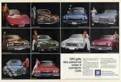 Chevrolet Corvette & 9 Other Gm Car Photos Nice Car Brochure, American Motors, Tv Ads, Car Advertising, General Motors, Chevrolet Corvette, Print Ads, Buick, Vintage Ads