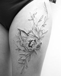 Cat Tattoos, Black Tattoos, Body Art Tattoos, Girl Tattoos, Lynx, Bordeaux France, Tattoo Sketches, Tattoo Shop, Inked Girls