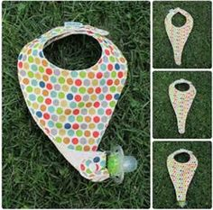 ... Bib Pattern, Pacifiers, Bib Pacifier Holder, Sewing Projects, Image