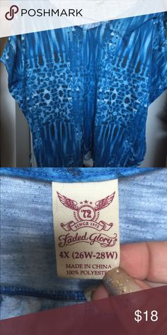 Blue top size 26/28 Never worn Faded Glory Tops Tunics