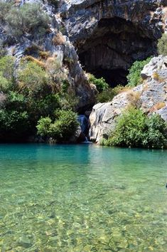 The Cats Cave, La Cueva del Gato, is exceptionally beautiful with quiet caves, crystal clear river pools and canyons to explore. Malaga, Spain Holidays, Eastern Europe, Travel Photography, Beautiful Places, Places To Visit, Explore, Waterfalls, Nature