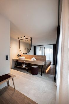 hotel room Gloriette by noa* network of architecture Hotel Bedroom Design, Bedroom Decor, Design Hotel, Casa Hotel, Room Interior, Interior Design, Hotel Interiors, Lounge Areas, My New Room