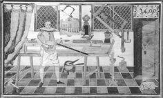 chest is from the Lubecker Tischlergesellen and now in the St. Annenmuseum in Lubeck, Germany. The image is from the book 'Schrank, Butze, Bett vom Mittelalter bis ins 20. Jahrhundert am Beispiel der Luneburger Heide' by Thorsten Albrecht.