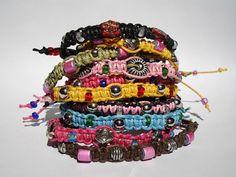Ten Kids Beaded Macrame Bracelets  Bulk  Lot by LOVEwhatIdoDesigns