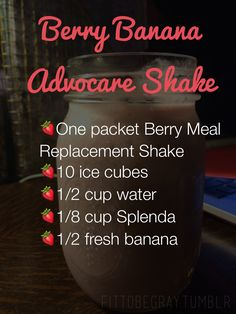 Advocare Berry Meal Replacement Shake Recipe minus Splenda for me Advocare Shakes, Advocare Diet, Advocare 24 Day Challenge, Advocare Recipes, Advocare Products, Get Healthy, Healthy Eating, Healthy Foods, Clean Eating