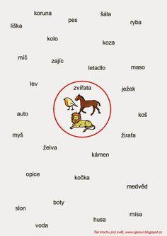 Tak TROCHU ... jiný svět: Najdi všechna zvířata - čtení s porozuměním Teaching Posts, Thing 1, English Language, Education, Children, School, Literatura, Dyslexia, Autism