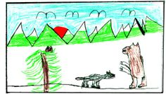 WEDNESDAY'S WEATHER: Clouds will clear; warming to 45. From today's Missoulian weather report. Missoula, Montana. Children's weather drawings.