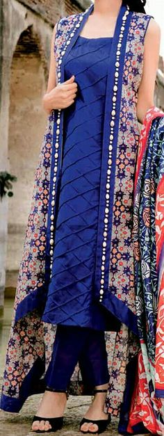 Buy lastest womens kurta and shalwar kameez in Pakistan at Oshi. Book Online affordable womens kurta and shalwar kameez in Karachi, Lahore, Islamabad, Peshawar and All across Pakistan. Stylish Dresses, Casual Dresses, Fashion Dresses, Casual Wear, Indian Attire, Indian Wear, Pakistani Outfits, Indian Outfits, Kurta Designs