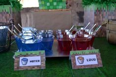 Minecraft+Party+Supplies+Party+City | and supplies used in this Minecraft Party available in Kara's Party ...