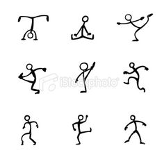 Stickfigure Activities Royalty Free Stock Vector Art Illustration