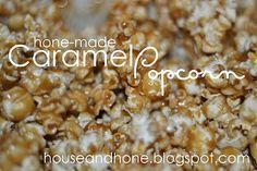 Hone-made Caramel Popcorn    http://houseandhone.blogspot.com/2011/12/hone-made-caramel-pop-corn.html#