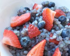 """We are kicking off our Fourth of July themed recipes with a healthy Miracle Rice dessert from Ambassador Hannah! This is a low-carb sweet treat, thanks to our shitataki rice. We promise this treat tastes like summer! For natural coloring, Hannah used Maqui powder.Maqui powder comes from the Maqui berry, which is a powerful antioxidant. According to WebMD, Maqui is used for weight loss, diabetes, heart disease, fatigue, """"detoxification,"""" and for general health and wellness.Fourth of July recipe Miracle Rice, Keto Pudding, Rice Desserts, Fourth Of July, Acai Bowl, Berry, Sweet Treats, Coloring, Powder"""