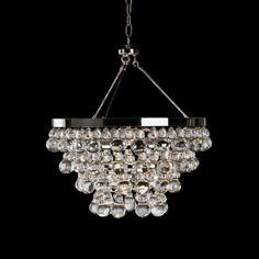 "Master Bathroom Robert Abbey Bling Collection Convertible Chandelier #K3788 20.5""Dia X 22""H $1331"