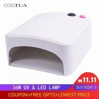 36w Uv Lamp Gel Nail Dryer White Uv Nail Lamp Curing For Uv Nail Gels Polish Nail Art Tools Hot Sale 818 Uv Nail Lamp Lamp Light Bulb Lamp