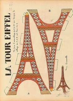 Molde Miniatura Torre Eiffel - À mão com carinho