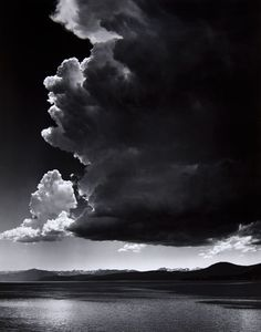 Photo by Ansel Adams - Thundercloud, Lake Tahoe, 1936