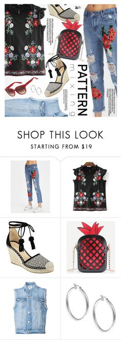 """Stay Bold:Pattern Mixing"" by pokadoll ❤ liked on Polyvore featuring Ivanka Trump, Frame, Sterling Essentials and Barton Perreira"