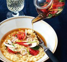 Recept: Tryffelrisotto med hummerte