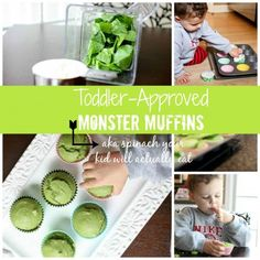 Spinach muffins for healthy toddler snacks
