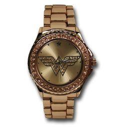 Wonder Woman Symbol Rose Gold Watch will even make a man look good #WonderWoman http://www.superherostuff.com/wonder-woman/watches/wonder-woman-symbol-rose-gold-watch-with-metal-band.html?itemcd=wtchwwsymrosemtl