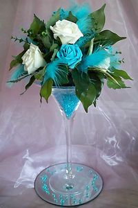 Martini Glass Vase Centrepiece