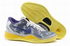 separation shoes 41ce7 af89b Star s favorite Year Of The Snake Nike Zoom Kobe VIII Grey Volt-Pure  Platinum 555035 058 Basketball Shoes Store