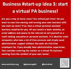 Business #start-up idea 3: start a virtual PA business!