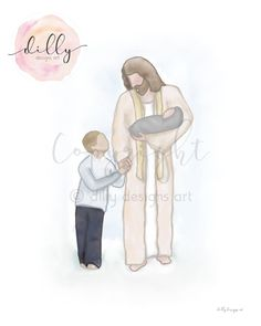 Through tears and trials, through fears and sorrows, through the heartache and loneliness of losing loved ones, there is assurance that life is everlasting. Our Lord and Savior is the living witness that such is so. Thomas S. Jesus Art, Jesus Christ, Jesus Painting, Watercolor Painting, Funeral Gifts, Sketch Journal, Infant Loss, Lord And Savior, Art File