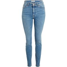 VERA Skinny High Jeans Light Blue ❤ liked on Polyvore featuring jeans, skinny fit jeans, super skinny jeans, high waisted jeans, super high-waisted skinny jeans and light blue skinny jeans