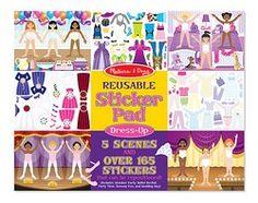 Melissa & Doug Reusable Sticker Pad - Dress-up (4198)