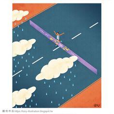 聯合報文章插畫-馬拉松的起點