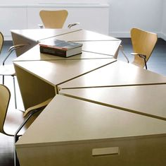 Image result for boardroom table geometric leg design triangular