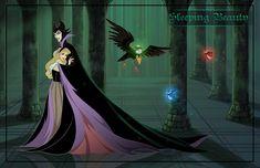 Friendly Villains #4 - Sleeping beauty by *Precia-T on deviantART