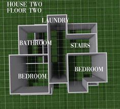 Sims House Plans, House Layout Plans, Family House Plans, Bedroom House Plans, New House Plans, House Layouts, Two Story House Design, Sims 4 House Design, Unique House Design