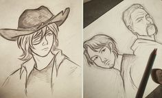 TWD sketches by 7Lisa on DeviantArt
