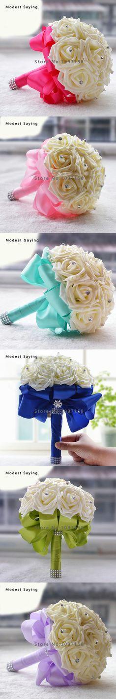 7 Colors Turquoise Artificial Flowers Wedding Bouquets 2017 New Fashion Bridal Bouquets Wedding Accessories vestido de noiva