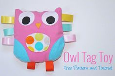 Owl Tag Toy Pattern and Tutorial - Two More Minutes
