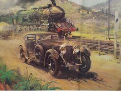 Deck Pictures, Cartoon Art Styles, Steam Engine, Steam Locomotive, Art Model, Antique Cars, Nostalgia, Europe, Illustration