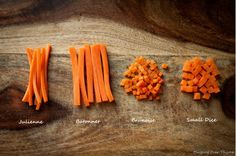 how to cut brunoise carrots