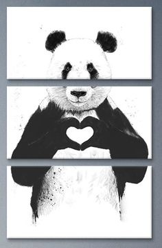 All You Need Is Love 3 Piece Painting Print on Canvas