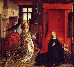 Rogier+van+der+Weyden+-+Die+Verkündigung+an+Maria
