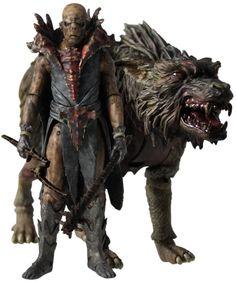 Pack 2 figuras El Hobbit. Fimbul The Hunter y Warg, 10cm