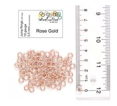 Handmade Jump Rings - 3.5 mm inner diameter - 18 gauge enameled copper - Rose Gold. Great for jewelry and chainmail.