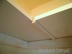 DIY Custom Closet Shelves