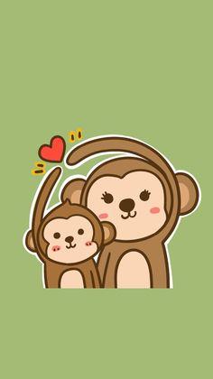 . Monkey Drawing, Monkey Art, Cute Monkey, Monkey Wallpaper, Cartoon Wallpaper, Cartoon Monkey, Cute Cartoon, Cute Animal Drawings, Cute Drawings