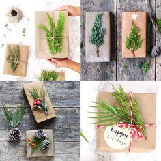 Gorgeous DIY gift wrapping ideas for Christmas Diy Mason Jar Lights, Mason Jar Diy, Outdoor Christmas Decorations, Christmas Centerpieces, Christmas Gift Wrapping, Christmas Crafts, Winter Christmas, Pine Cone Crafts, Diy Gifts