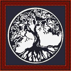 blackwork tree of life cross stitch pattern | Flickr - Photo Sharing!